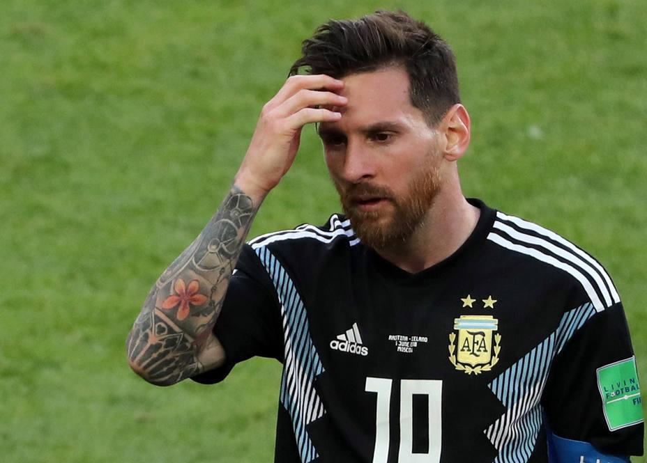 Leo Messi falló un penalti ante Islandia