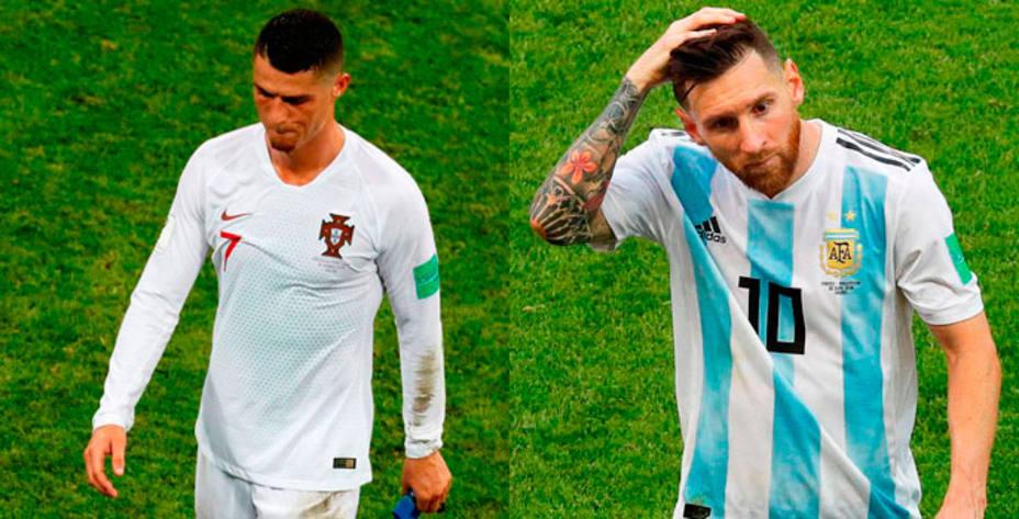 Cristiano y Messi dicen adiós al Mundial el mismo día