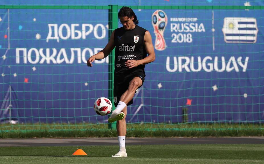 Cavani, gran duda para el partido de cuartos de final entre Uruguay y Francia