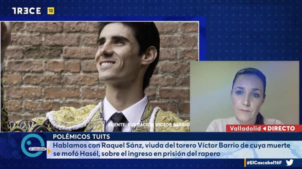 La viuda de <h3 class='enlacePalabraNoticia' onclick='opcionBuscarActualidad('Víctor Barrio','')' >Víctor Barrio</h3>, por cuya muerte se mofó Hasél: