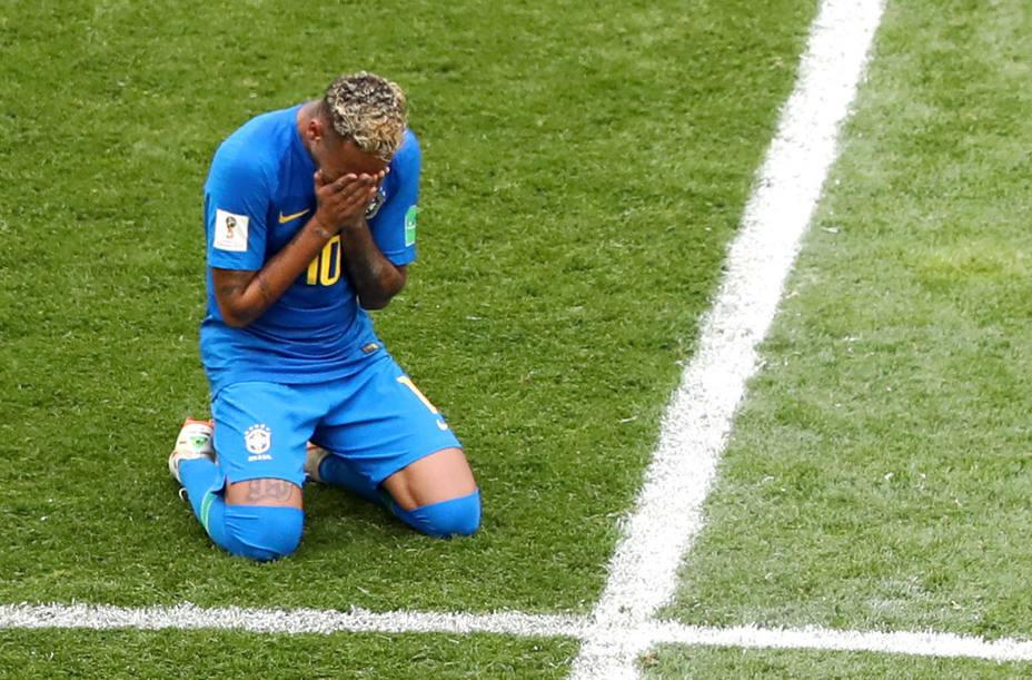Neymar acabó llorando el encuentro frente a Costa Rica tras marcar el segundo gol en el 97'