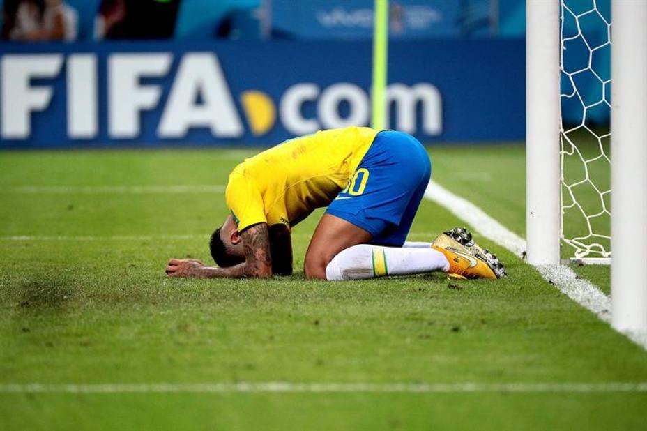 Neymar, desolado tras la eliminación de Brasil
