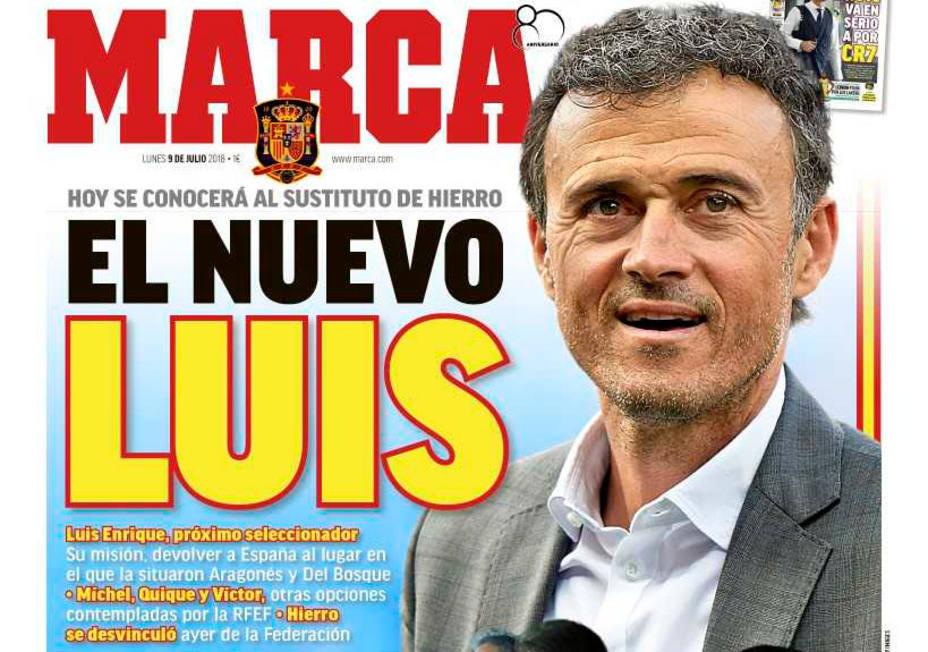 El MARCA anuncia que Luis Enrique será el nuevo seleccionador nacional