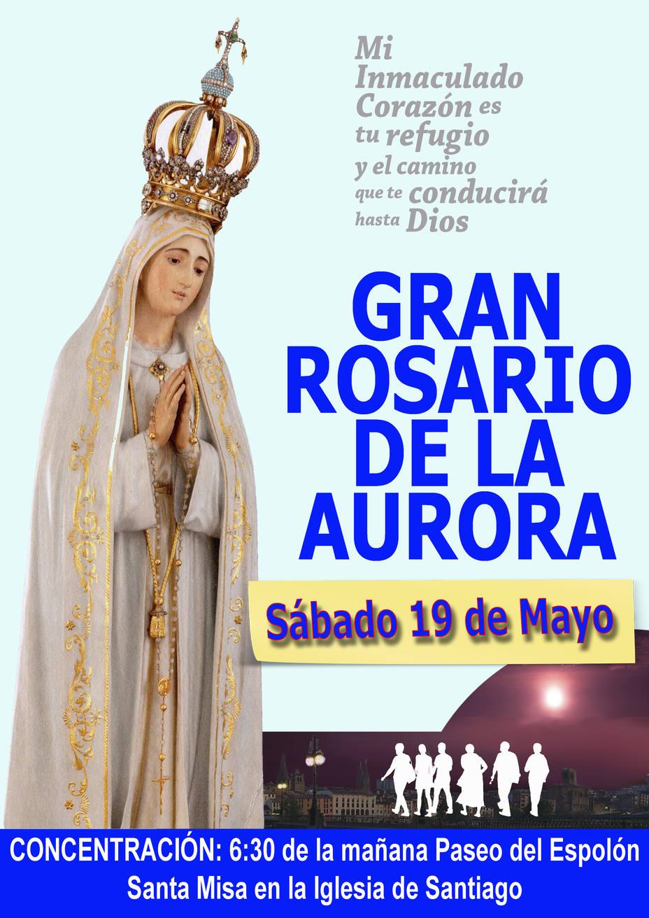 Resultado de imagen de rosario de la aurora logroño