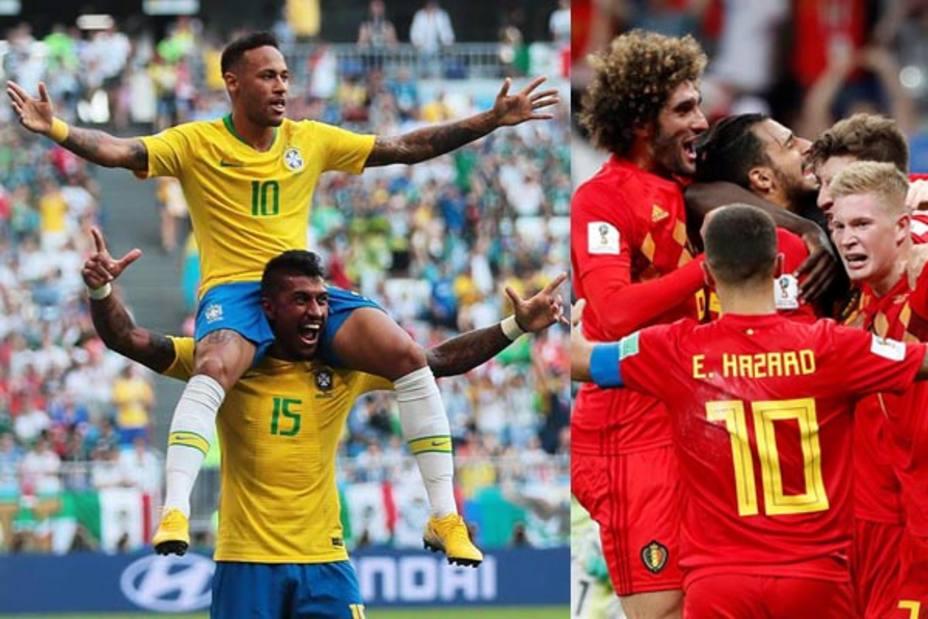 Brasil y Bélgica, a cuartos de final tras eliminar a México y Japón