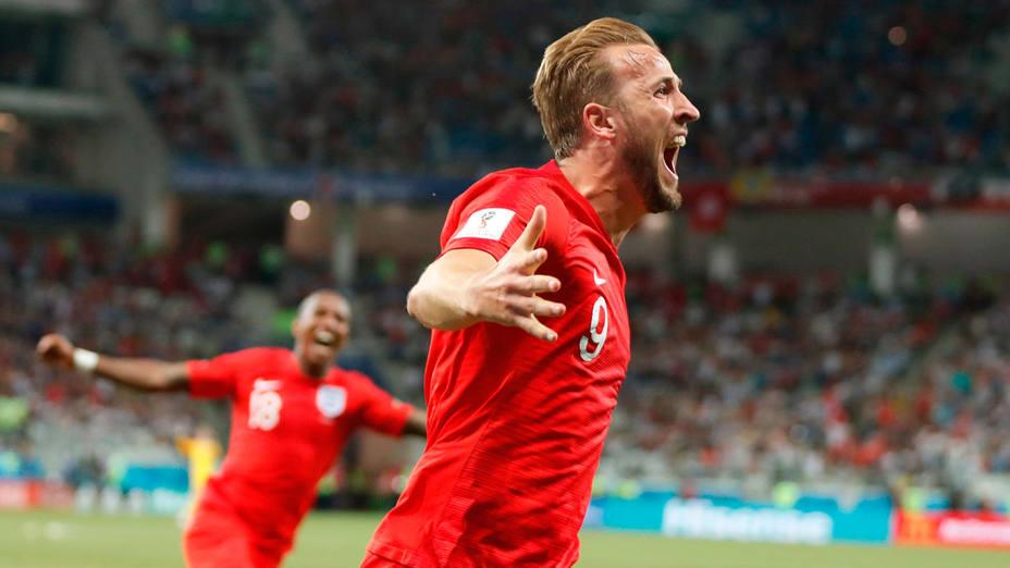 Harry Kane marcó un doblete en la victoria de Inglaterra en su debut en el Mundial