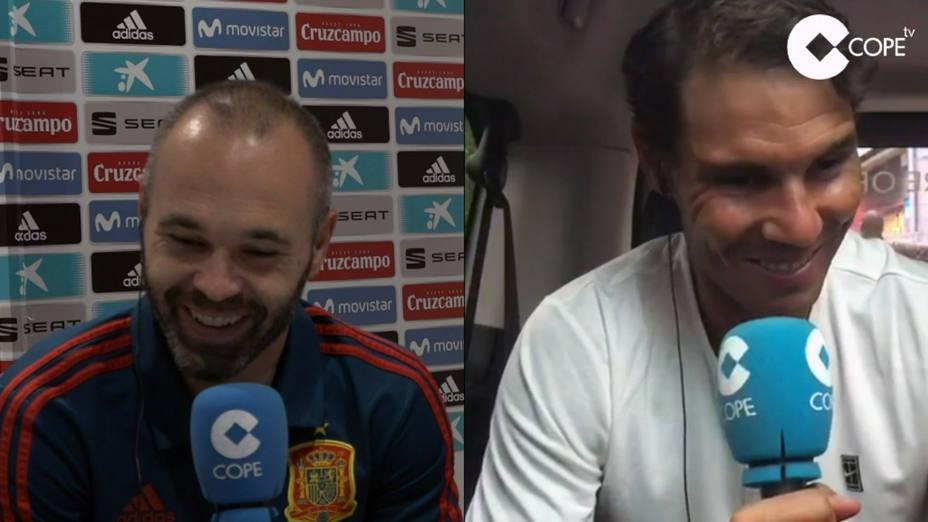 Iniesta y Nadal: Iconos del deporte mundial, juntos en El Partidazo de COPE