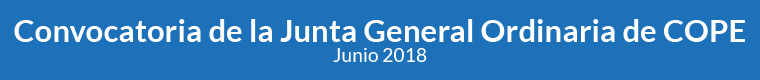 Convocatoria de la Junta General Ordinaria de COPE - Junio 2018