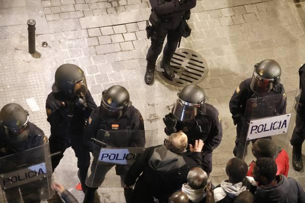 Actuación policial en Lavapiés