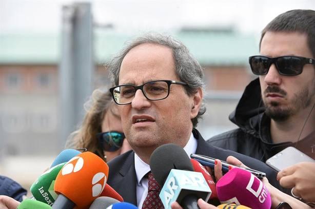 Torra insiste a Sánchez en dialogar y avisa de que el Govern no se rendirá