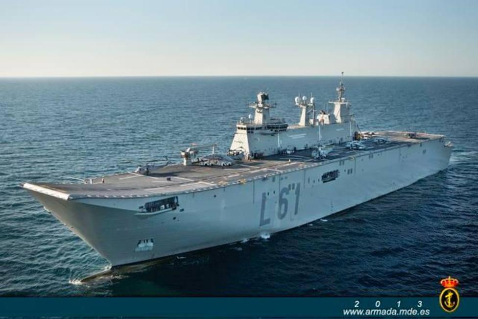 El portaaviones Juan CarlosI amarrará en Bilbao