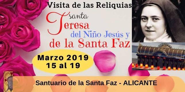 Las Reliquias de Santa Teresa del Niño Jesús llegan a Alicante