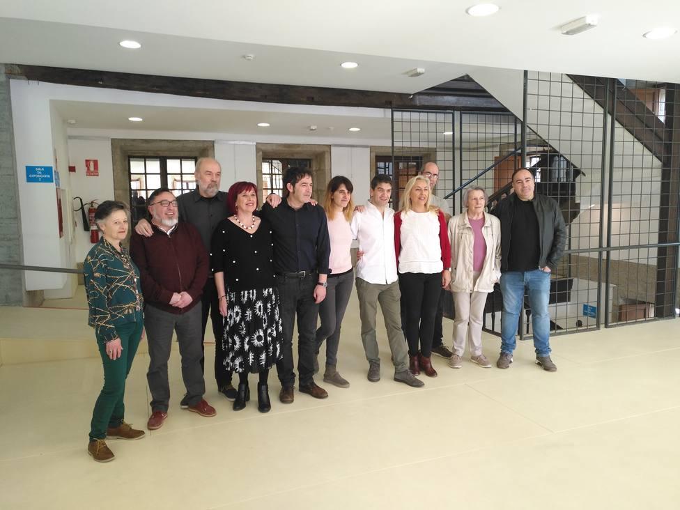Integrantes de la lista propuesta por Jorge Suárez para Ferrol en Común - FOTO: Europa Press