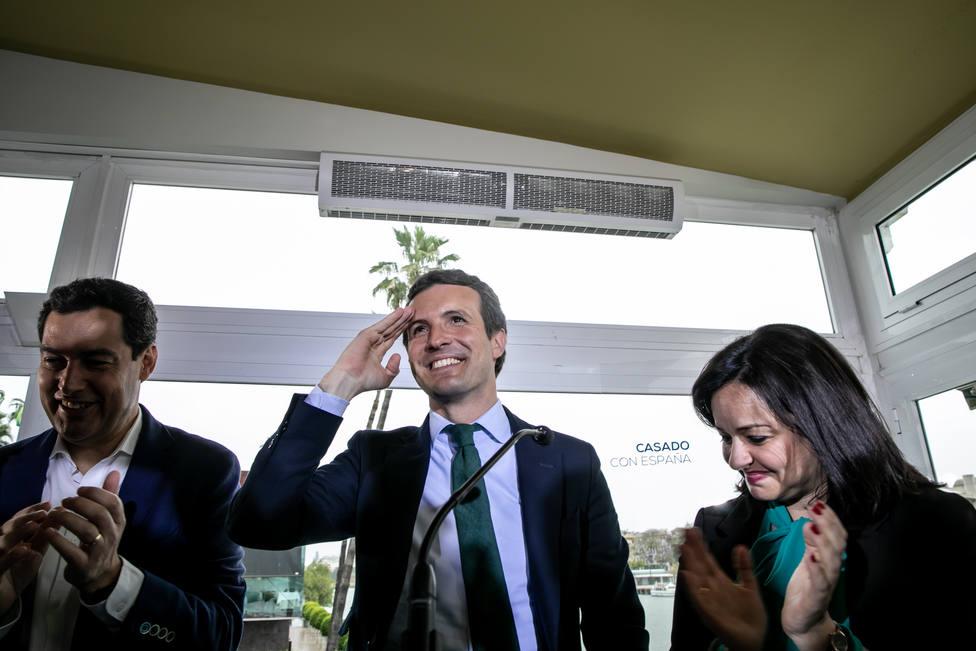 Casado apuesta por exportar la vía andaluza a nivel nacional y pide al PP un último esfuerzo
