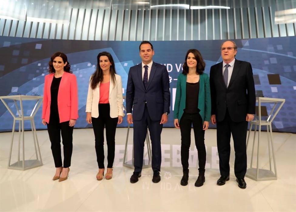 El debate de Telemadrid evidencia el paso del bipartidismo al bibloquismo