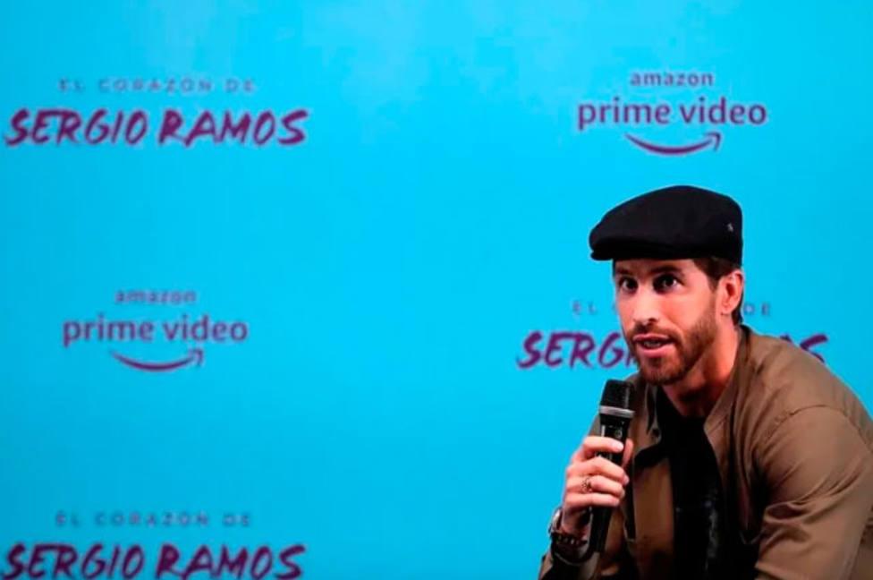 Sergio Ramos, durante la presentación de su documental