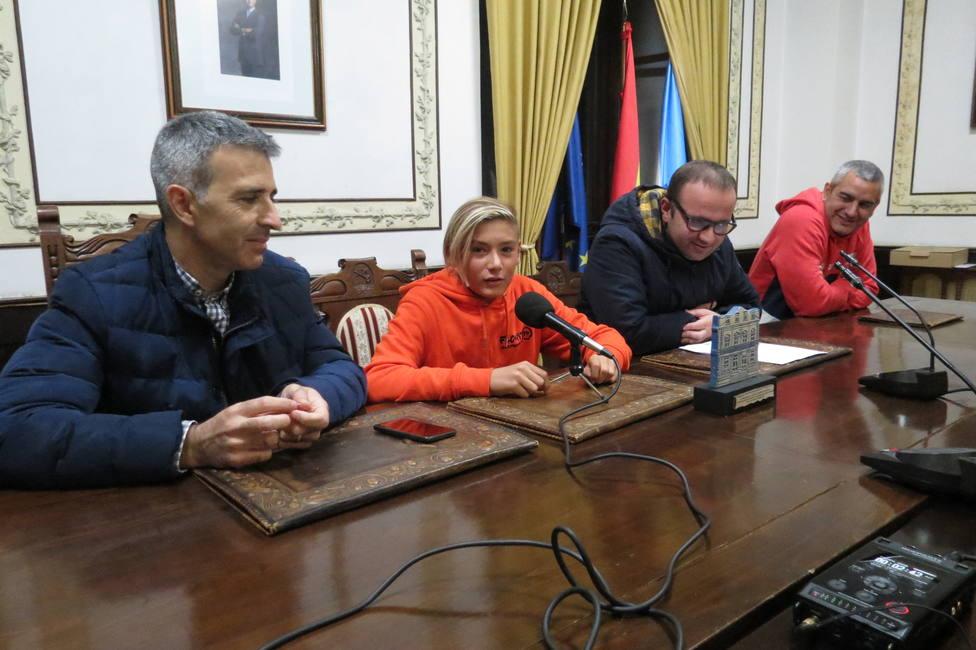 Martín Fernández en la recepción oficial en el Ayuntamiento de Ribadeo