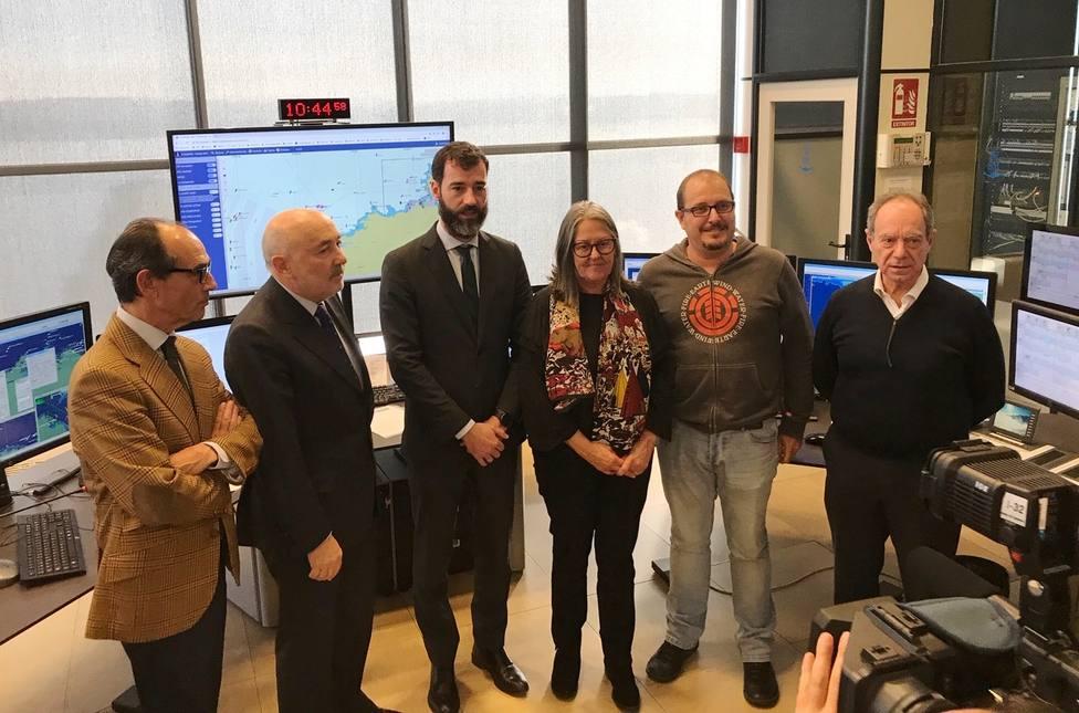 Participantes en la rueda de prensa en la Torre de Control de A Coruña - FOTO: Delegación del Gobierno
