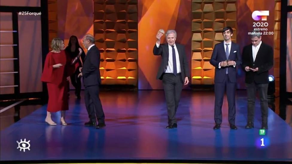 Emilio del Río recoge uno de los Premios Forqué del cine español por la Ley de Propiedad Intelectual