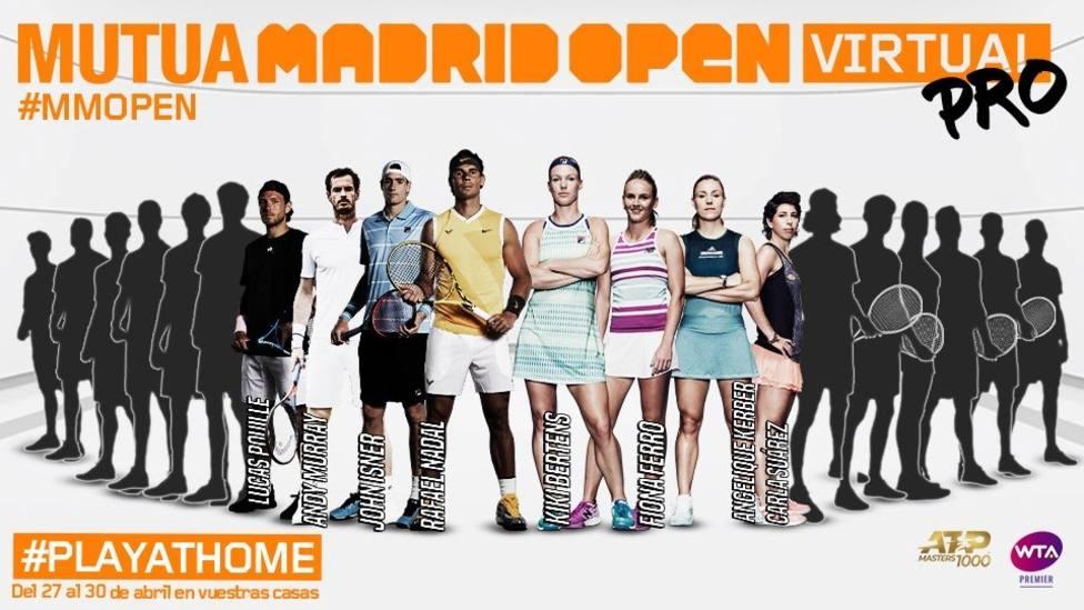 Tenis.- Rafa Nadal se apunta al Mutua Madrid Open Virtual Pro