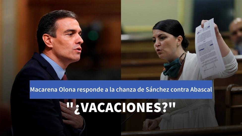 La tajante respuesta de Olona a Sánchez por las vacaciones de Abascal