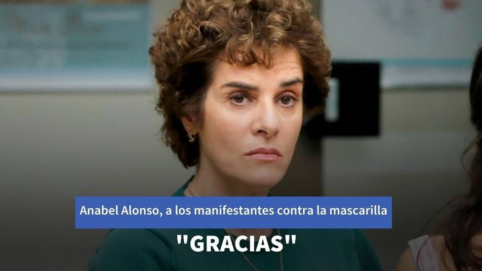 La respuesta de Anabel Alonso a los manifestantes contra la mascarilla: Gracias