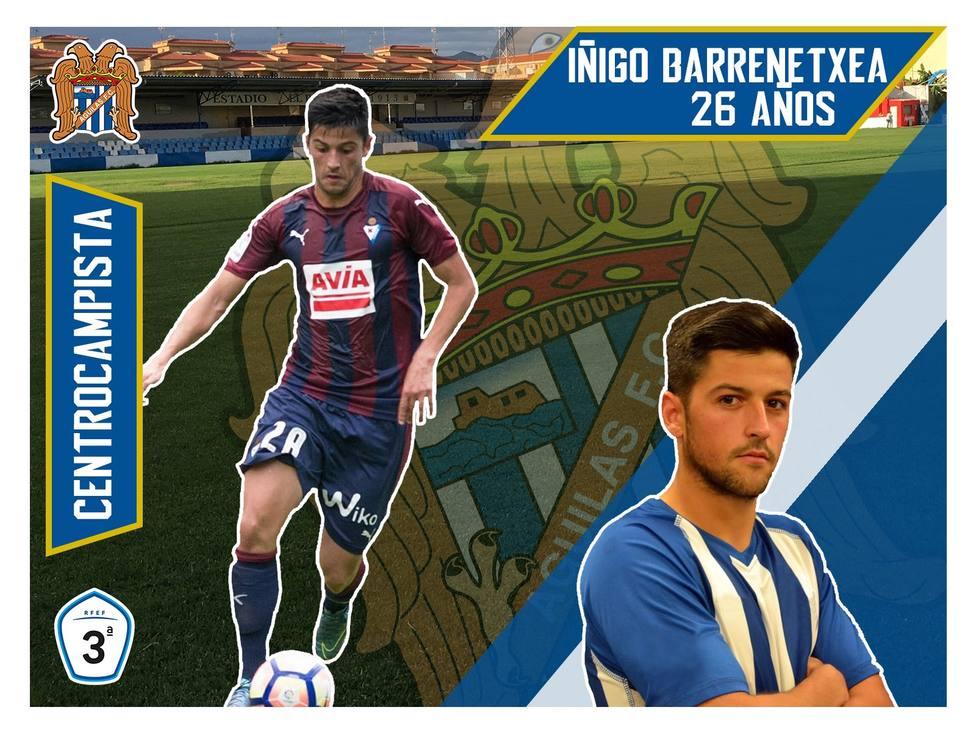 Iñigo Barrenetxea vuelve al Águilas FC