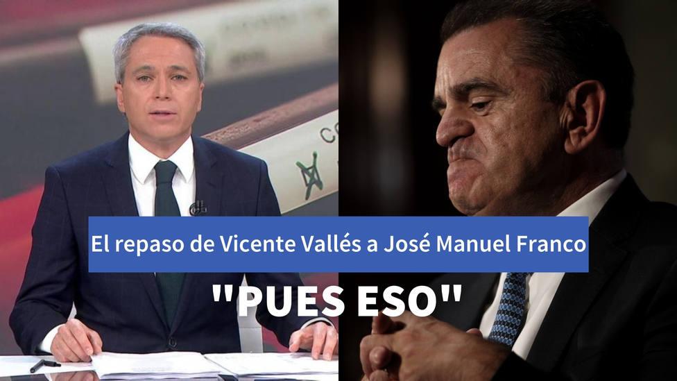 El repaso de Vicente Vallés a Franco por quitarse la responsabilidad de Barajas: Pues eso