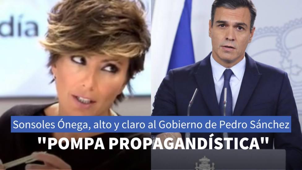 Sonsoles Ónega y Pedro Sánchez