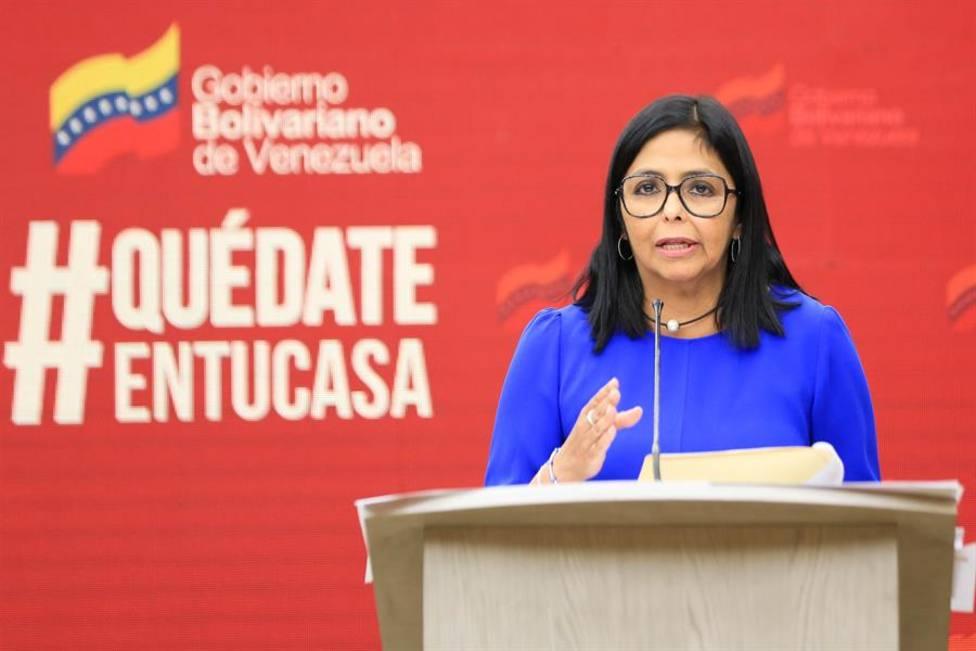La vicepresidenta venezolana Delcy Rodríguez en un acto en Caracas