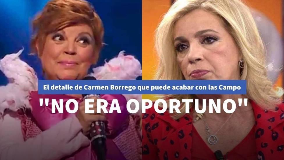 El detalle de Carmen Borrego en 'Viva la vida' con Terelu que puede romper definitivamente con las Campos