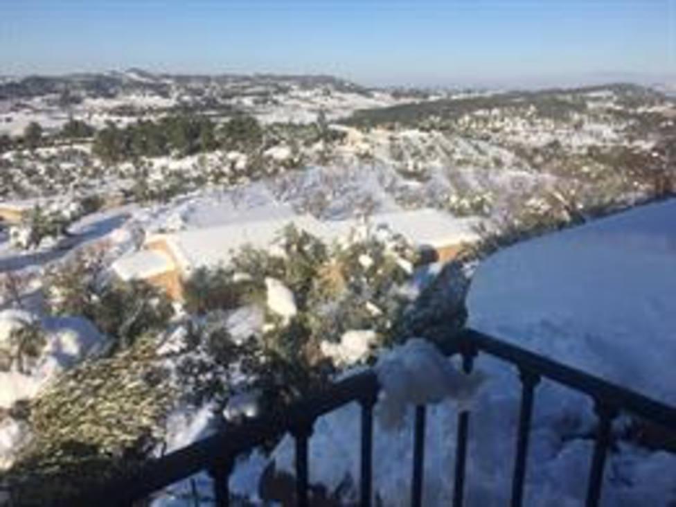 Vista del municipio de Horta de Sant Joan (Tarragona) tras el temporal 'Filomena'