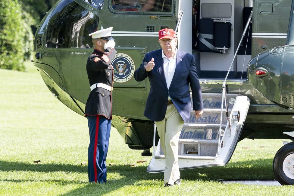 US President Trump in White House