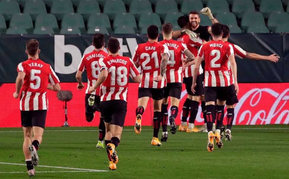 El Athletic celebra el pase a semifinales de Copa (EFE)