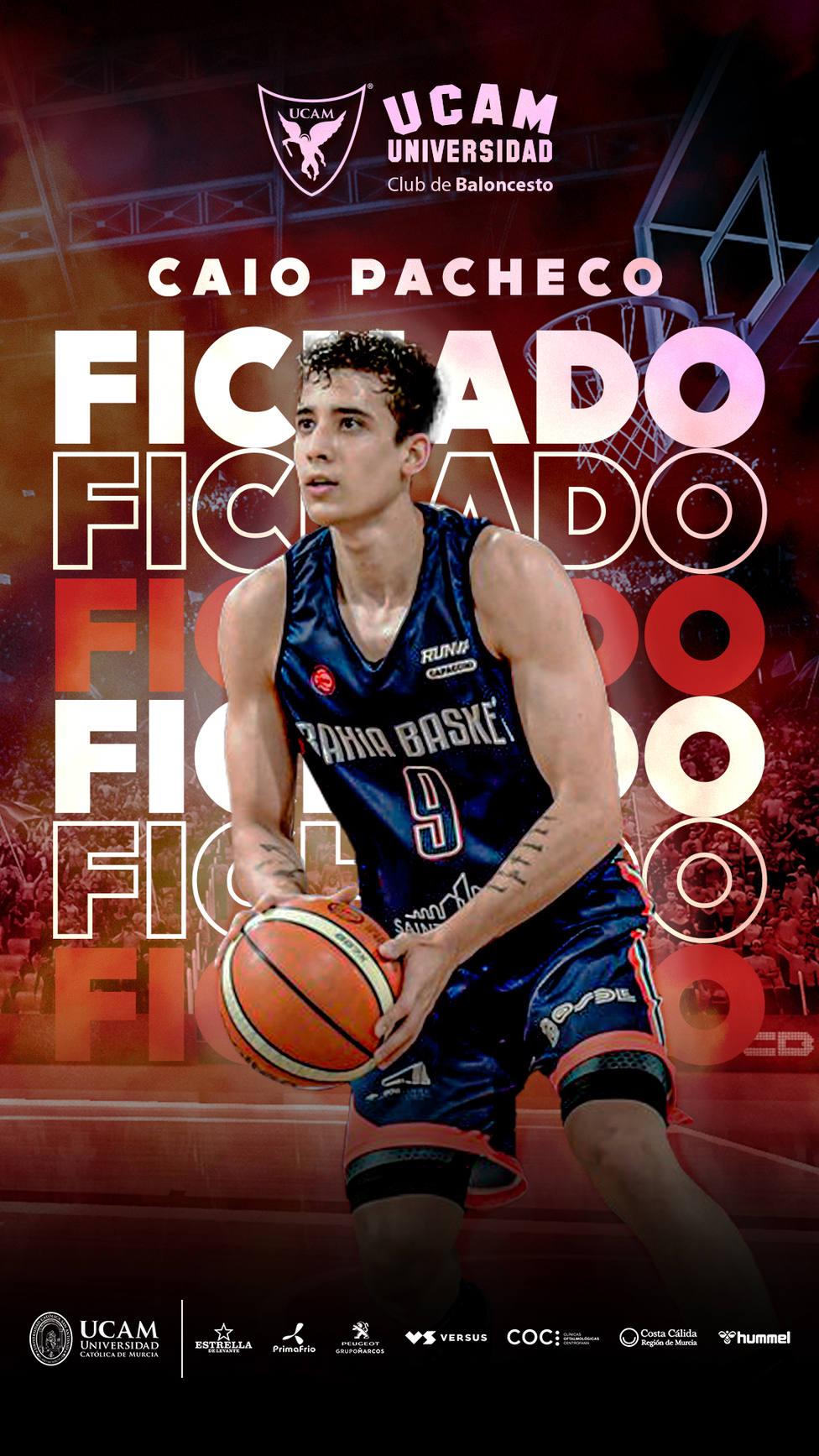 UCAM Murcia CB incorpora al base brasileño Caio Pacheco