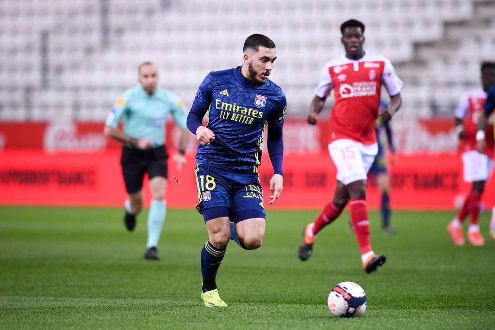 18 RAYAN CHERKI (OL) FOOTBALL : Reims vs Lyon - Ligue 1 Uber Eats - 12/03/2021 FEP/Panoramic PUBLICATIONxNOTxINxFRAxITA