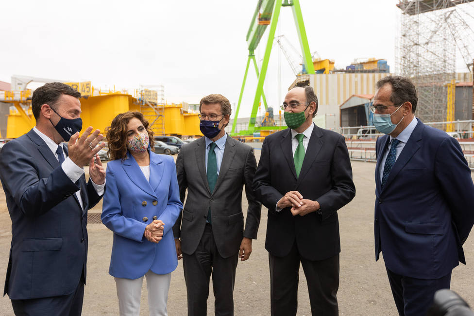 Navantia Fene acogió la firma del acuerdo para la construcción de monopiles. FOTO: Navantia
