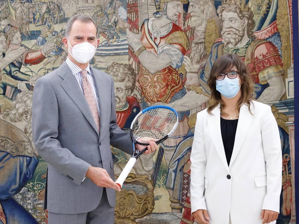 El rey Felipe VI recibe a Ane Mintegi, campeona júnior de Wimbledon