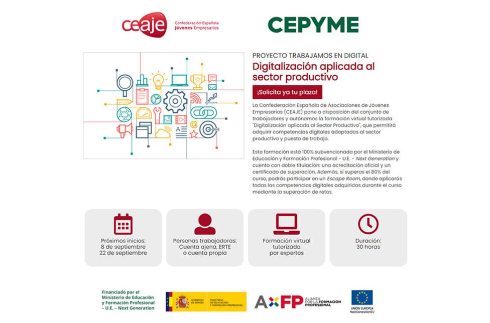 CEAJE ofrece formación gratuita en materia de digitalización