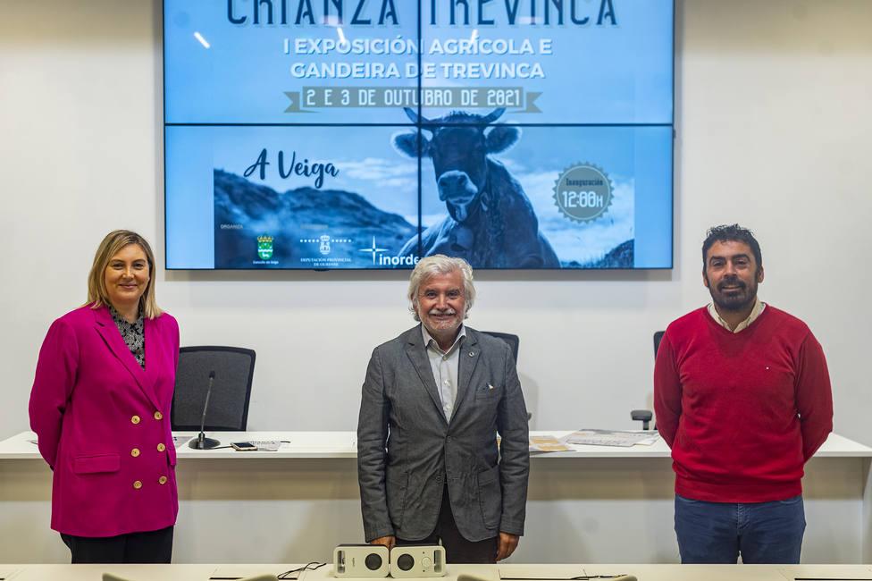 Enma González, Rosendo Fernández y Juan Anta