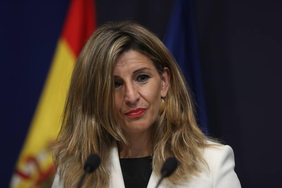 Yolanda Díaz advierte al Gobierno de que se equivocará si no deroga la reforma laboral