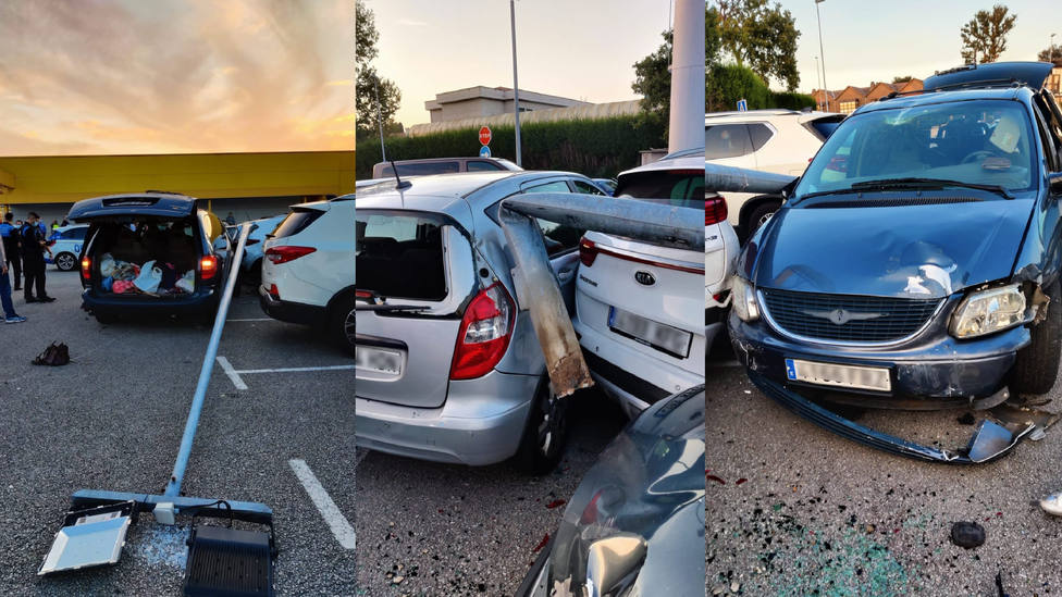Huye de la policía en Oviedo y se estrella en La Fresneda