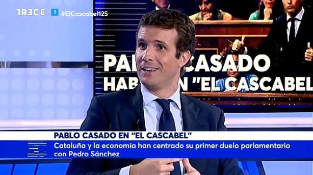 Pablo Casado en El Cascabel de TRECE