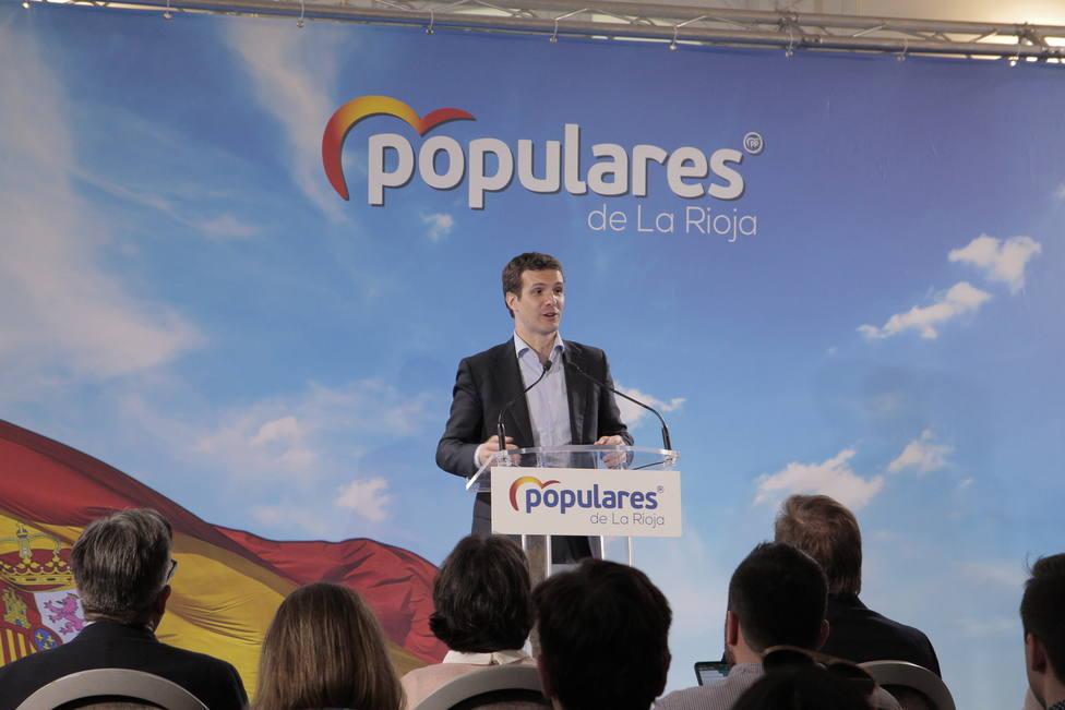 Casado reclama a los españoles que no experimenten con el voto para lograr una España cohesionada