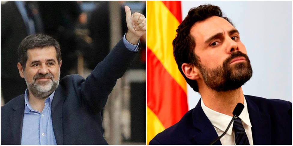 Jordi Sànchez lanza un reproche a Torrent en su despedida del Parlament