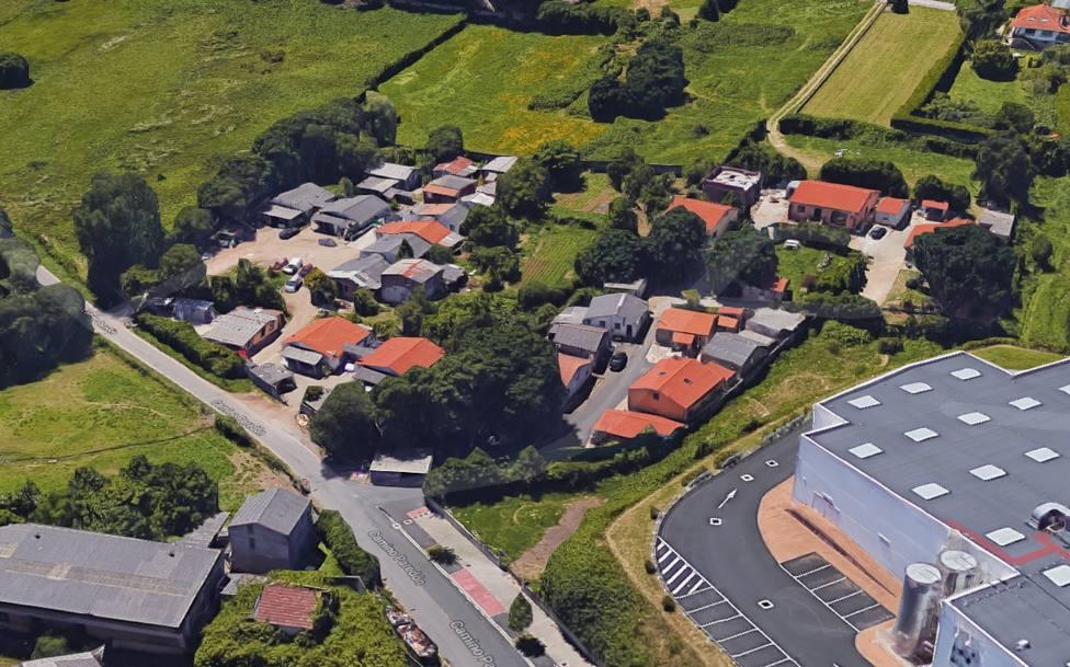 Vista aérea de las viviendas que habitan los conocidos como Chaquetas