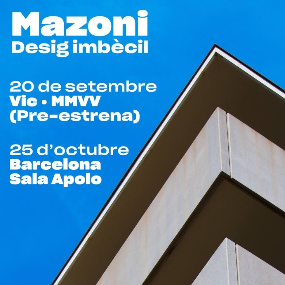 Mazoni publicará el nuevo disco Desig Imbècil en octubre