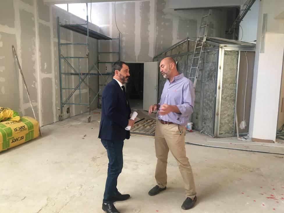 Visita del concejal Javier Muñoz a las obras del nuevo espacio coworking del casco viejo de Soria