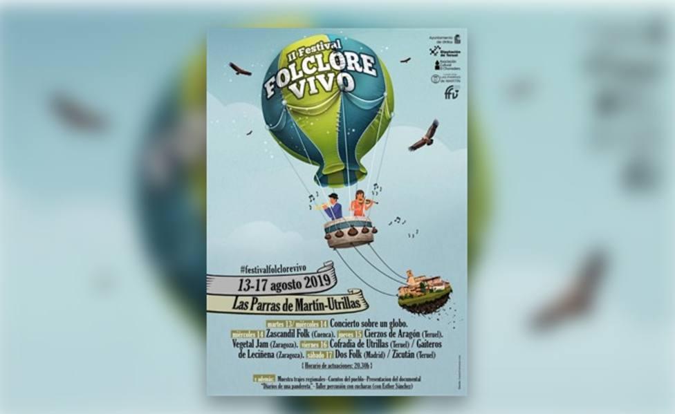 Cartel del Festival Folclore Vivo de Las Parras de Martín