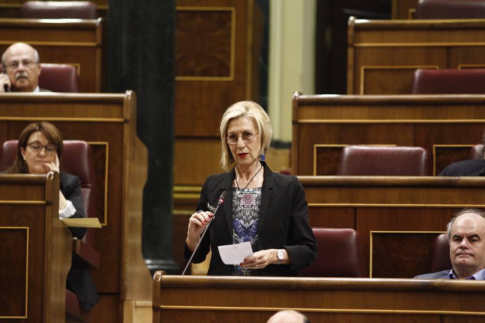 Rosa Díez interviene el jueves en un acto del PP en el Congreso en pro de la unidad de España un día después de la Diada